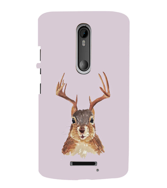 EPICCASE Squireel with horns Back Case Cover for Moto X3