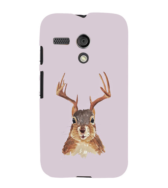 EPICCASE Squireel with horns Back Case Cover for Moto G