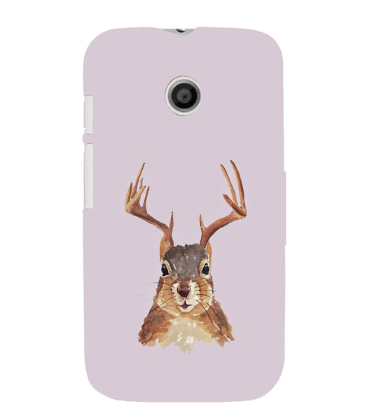 EPICCASE Squireel with horns Back Case Cover for Moto E