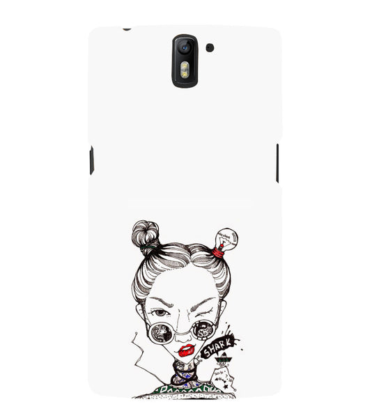 EPICCASE Sassy girl Back Case Cover for Oneplus One