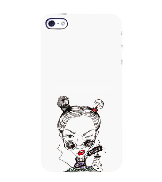 EPICCASE Sassy girl Back Case Cover for Apple iPhone 4