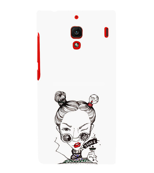 EPICCASE Sassy girl Back Case Cover for Xiaomi Redmi 1s