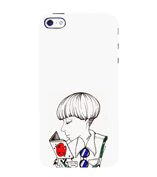 EPICCASE Artistic girl Back Case Cover for Apple iPhone 5/5s