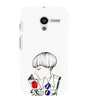 EPICCASE Artistic girl Back Case Cover for Moto X