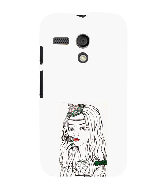 EPICCASE Dreamy girl Back Case Cover for Moto G