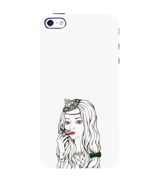 EPICCASE Dreamy girl Back Case Cover for Apple iPhone 4