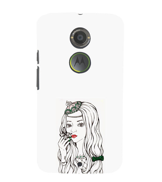 EPICCASE Dreamy girl Back Case Cover for Moto X2