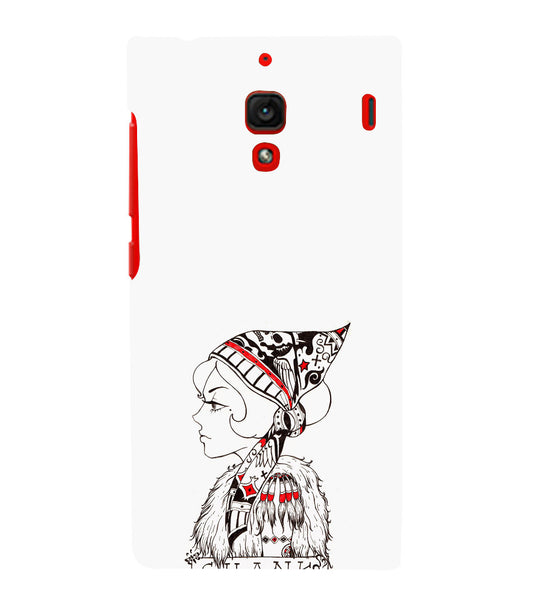 EPICCASE Modern girl Back Case Cover for Xiaomi Redmi 1s
