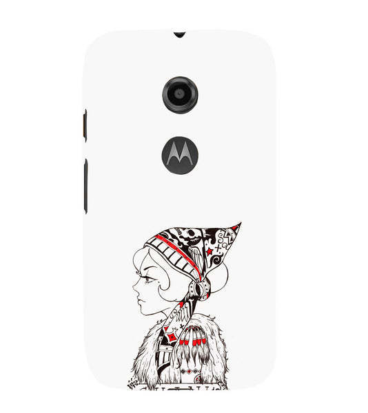 EPICCASE Modern girl Back Case Cover for Moto E2