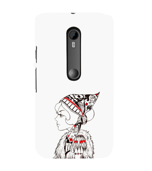 EPICCASE Modern girl Back Case Cover for Moto X Style