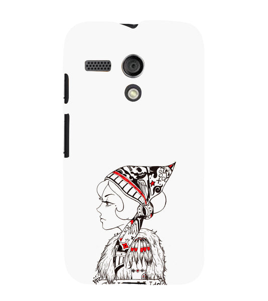 EPICCASE Modern girl Back Case Cover for Moto G