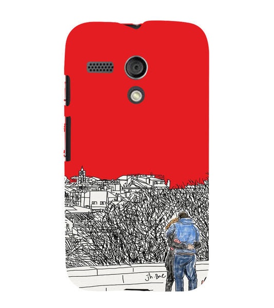 EPICCASE Artistic couple Back Case Cover for Moto G