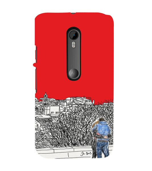 EPICCASE Artistic couple Back Case Cover for Moto X Style