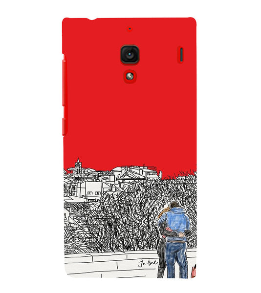 EPICCASE Artistic couple Back Case Cover for Xiaomi Redmi 1s