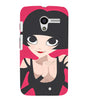 EPICCASE Hot girl power Back Case Cover for Moto X