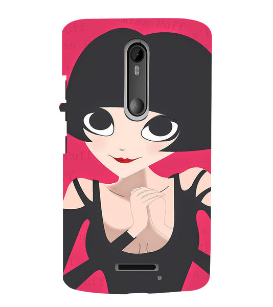 EPICCASE Hot girl power Back Case Cover for Moto X3