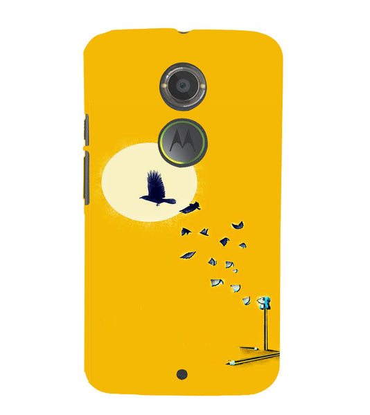 EPICCASE Birds freedom Back Case Cover for Moto X2