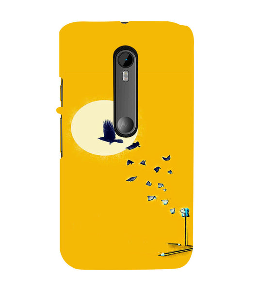 EPICCASE Birds freedom Back Case Cover for Moto X Force