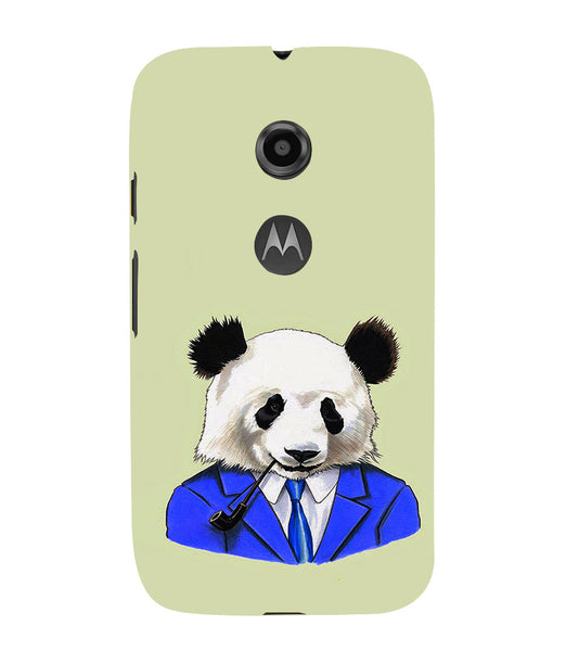 EPICCASE Panda in a suit Back Case Cover for Moto E2