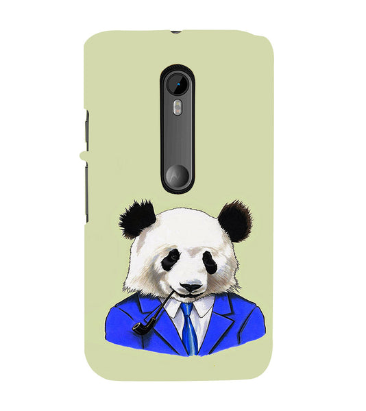 EPICCASE Panda in a suit Back Case Cover for Moto X Force