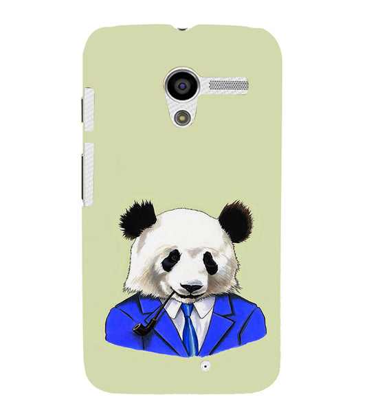 EPICCASE Panda in a suit Back Case Cover for Moto X