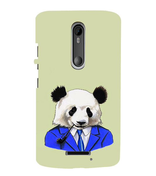 EPICCASE Panda in a suit Back Case Cover for Moto X3