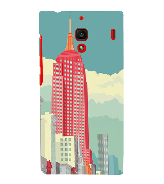 EPICCASE Abstract newyork Back Case Cover for Xiaomi Redmi 1s