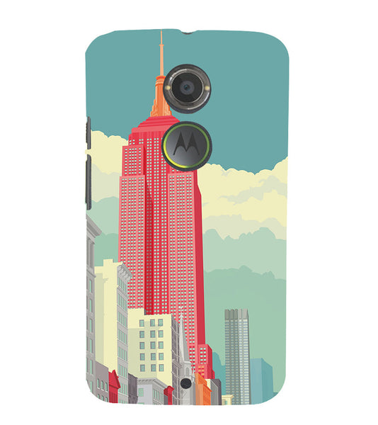 EPICCASE Abstract newyork Back Case Cover for Moto X2