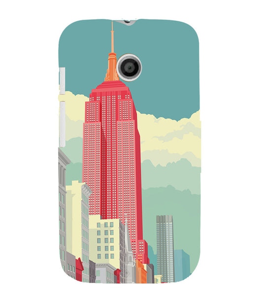 EPICCASE Abstract newyork Back Case Cover for Moto E