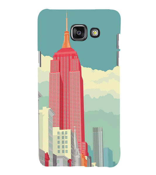 EPICCASE Abstract newyork Back Case Cover for Samsung A7 2016