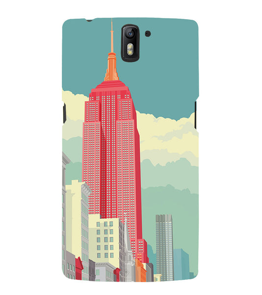 EPICCASE Abstract newyork Back Case Cover for Oneplus One