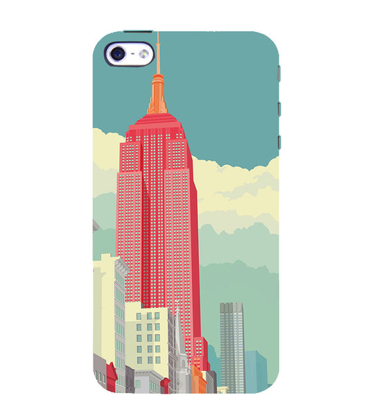 EPICCASE Abstract newyork Back Case Cover for Apple iPhone 4