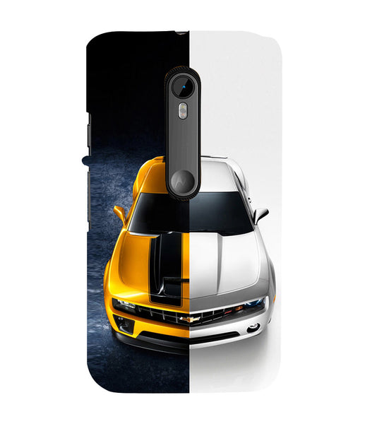 EPICCASE Chev bumblebee Back Case Cover for Moto X Force