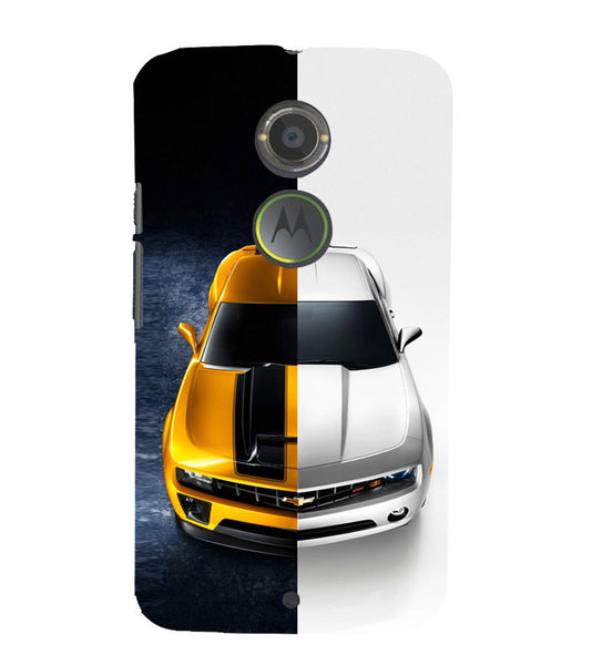 EPICCASE Chev bumblebee Back Case Cover for Moto X2