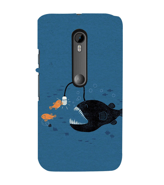 EPICCASE Eco-friendly fish Back Case Cover for Moto X Style