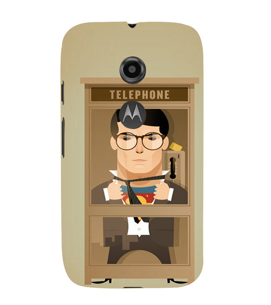 EPICCASE Clark goes super Back Case Cover for Moto E2