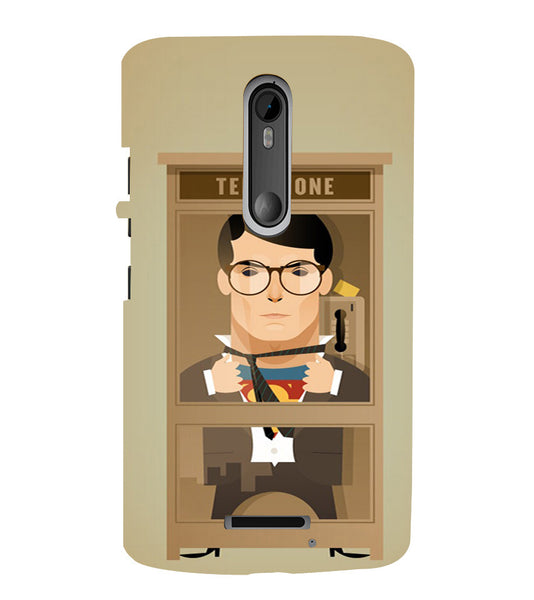 EPICCASE Clark goes super Back Case Cover for Moto X3