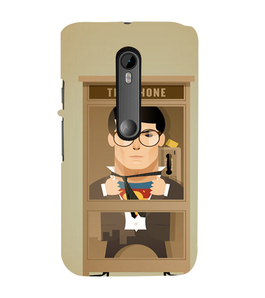 EPICCASE Clark goes super Back Case Cover for Moto X Force