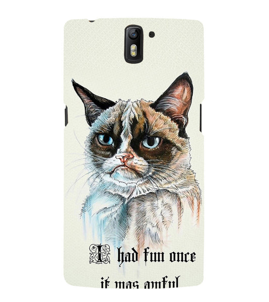 EPICCASE Grumpy cat Back Case Cover for Oneplus One