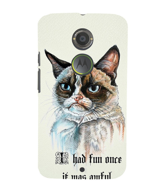 EPICCASE Grumpy cat Back Case Cover for Moto X2