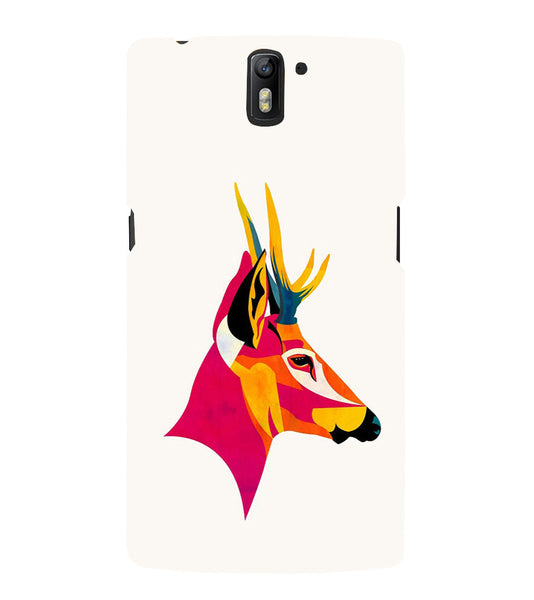 EPICCASE Artistic deer Back Case Cover for Oneplus One