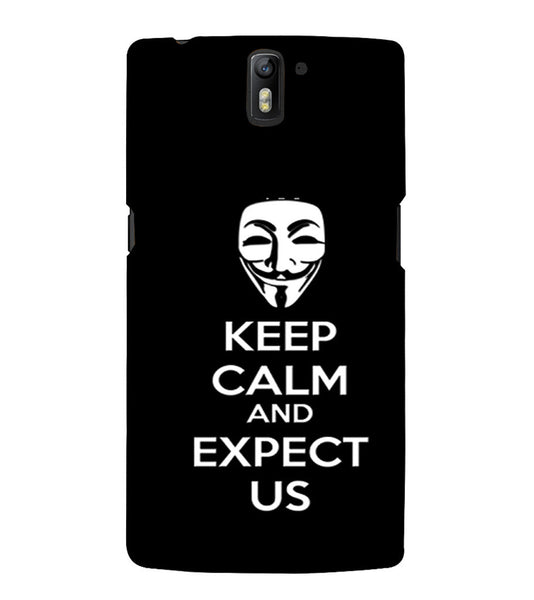 EPICCASE Wait and expect Back Case Cover for Oneplus One