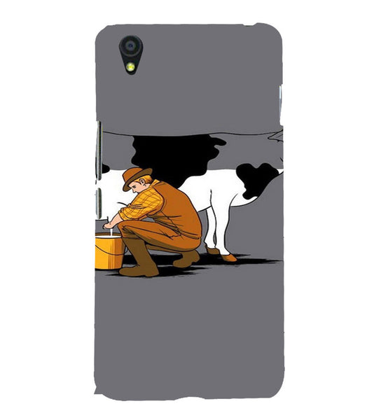 EPICCASE Cow milk Back Case Cover for Oneplus X