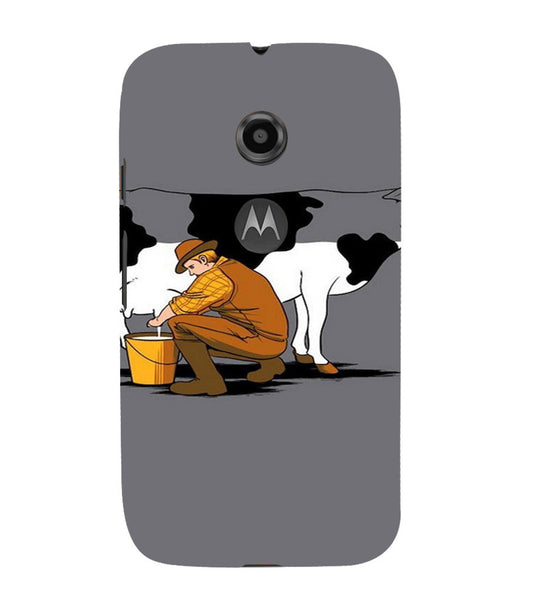 EPICCASE Cow milk Back Case Cover for Moto E2