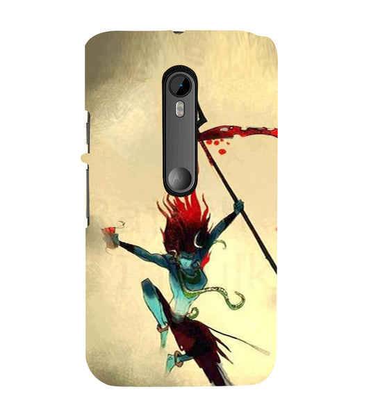 EPICCASE Artistic Lord Shiva  Back Case Cover for Moto X Force