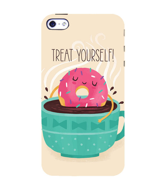EPICCASE Treat yourself Back Case Cover for Apple iPhone 4
