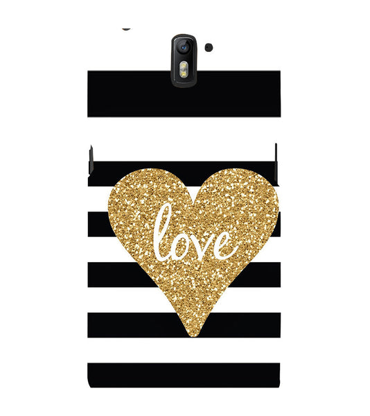 EPICCASE Love patterns Back Case Cover for Oneplus One