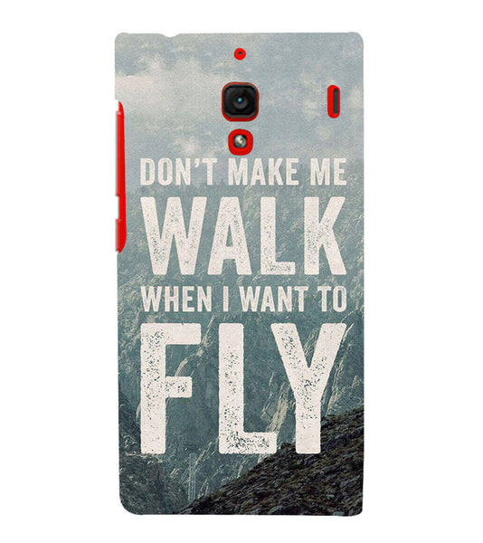 EPICCASE Don't make me walk Back Case Cover for Xiaomi Redmi 1s