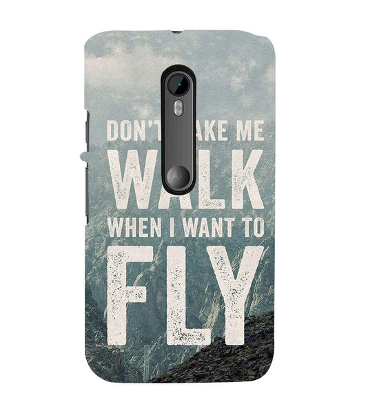 EPICCASE Don't make me walk Back Case Cover for Moto X Style