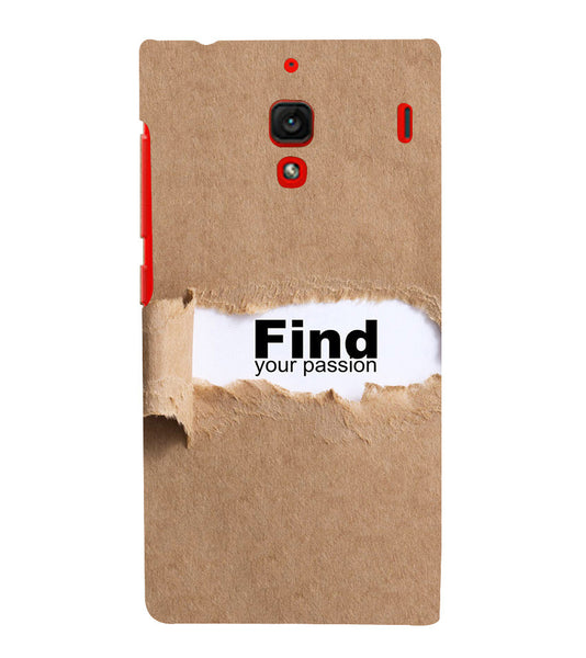 EPICCASE Find yoursefl Back Case Cover for Xiaomi Redmi 1s